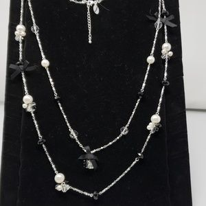 WHBM bow necklace